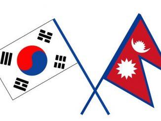 nepal-korea flags