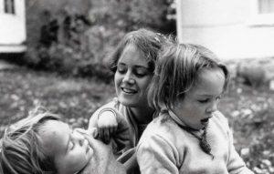 Lama-Tsultrim-Allione-and-children