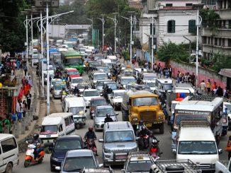 Ratnapark traffic jam