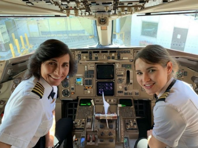 Mother-daughter both pilot