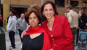 Kamla Harris with her mother